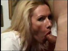 Hot milf cougar has a fat dick in her mouth