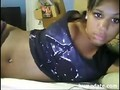 Cute black teen fingers her wet pussy on cam