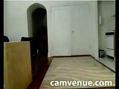 Nude girl flashes pizza delivery guy