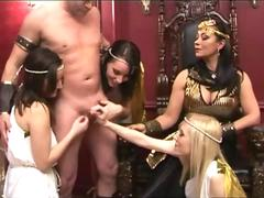 Cfnm queen cleopatra make him cum