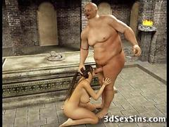 Ugly Ogres Fuck 3D Busty Girls