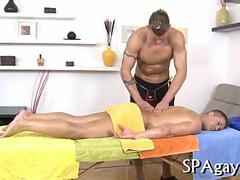 Gay massage parlor with well hung guys