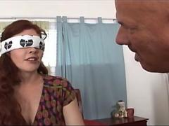 Blindfolded Slut Wife with Big Tits Interracial DP