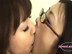 2 Asian Girls Kissing Passonately Spitting On Their Way To Home
