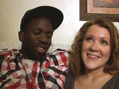 Black boy persuades his white girl to make interracial homemade porn video