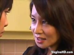Sexy Japanese Lesbians In the Kitchen