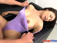 Asian In Pantyhose Fingering And Fucking