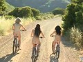 Bike riding babes stop for a pussy licking
