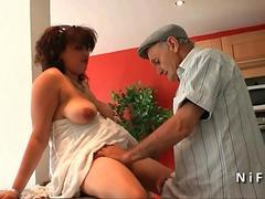 Chubby young french arab fucked by old man Papy Voyeur