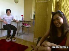 Couple talk about the girlfriend doing porn