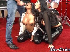 Wam leather babes cummed