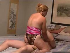 Horny old woman ass fucked no condom