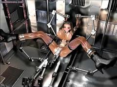 sex machine getting her fucked in a bizarre way
