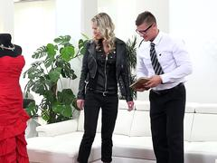 Claudia Macc fucks the younger tailor