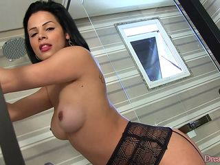 hot chick in sexy lingerie wants to masturbate with her fav fav toys in front of the webcam and tease for money