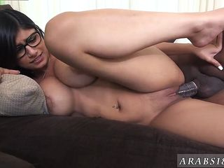 mia khalifa spanked in black and white tries a big black dick