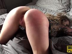 Spanked british sub gets her ass hardfucked