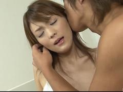 Nagisa Aiba sucks it well before letting it in her pussy
