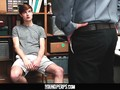 YoungPerps - Bearded daddy mall cop fucks straight boy shoplifter hard