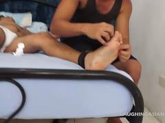 Asian Boy Danilo Bound and Tickled