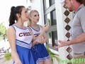 Teen cheerleaders share jock