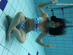 Iva and Paulinka big tits teenis in the pool