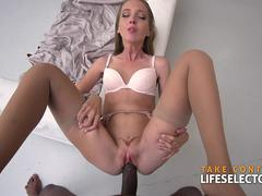 Petite blonde Anya Akulova Goes Black in POV