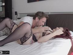 BANG Gonzo - Tattooed redhead Amber Ivy gets her ass filled