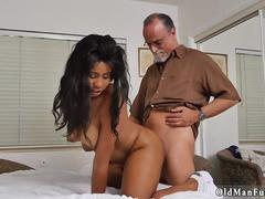 Hairy daddy fucks girl and old big tits Glenn completes the job