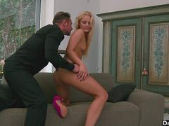 Rough fuck for euro blonde babe