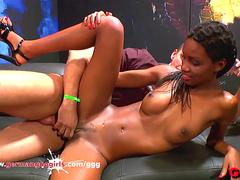 Young Ebony babe Zara Fucked Good - German Goo Girls