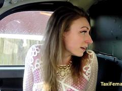 Slut assfucked in taxi by her boss