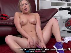 Sex Toys - Daniella Margot toys her pussy with a purple vibrator to orgasm