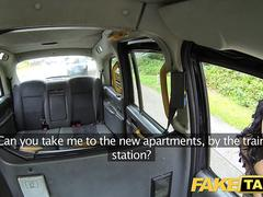 Fake Taxi Cabbie gives cock hungry minx