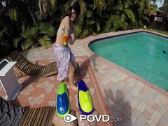 POVD Soaking wet water fight outdoor POUNDING