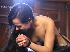 Sole caning for russian slut