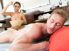 Melissa Moore massaging her crush