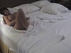 Catching wife masturbating while husband takes shower