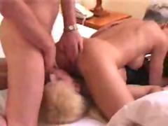 Mature Couple sharing Shemale