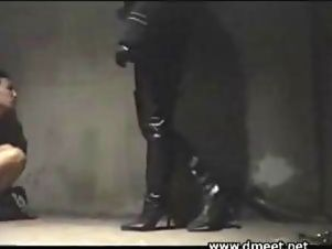 Japanese Prison Boot Domination