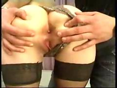 Ophelie,  French mature sodomized in stockings