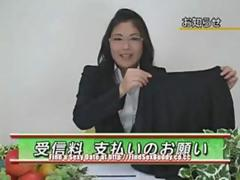 Japanese woman fucks on tv movie