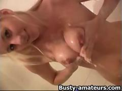 Autumn fingering while taking a shower movie