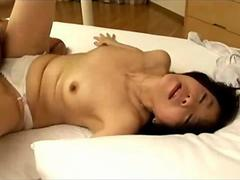 Mature Japanese woman fingered doggystyle sucks cock and gets fucked