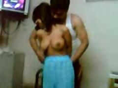 Indian girl enjoyed by group of men in lodge room nice boobs