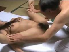 Milf giving blowjob fucked by an old guy