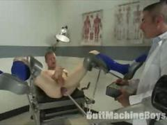 A Gay Boy Machine Fucked by Doctor