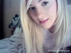 Webcam hot blonde bate