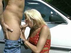 Bold guy with small dick fucking a tall blonde