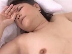 Fat Milf With Hairy Pussy Fucked By Young Guy Creampie On The Bed